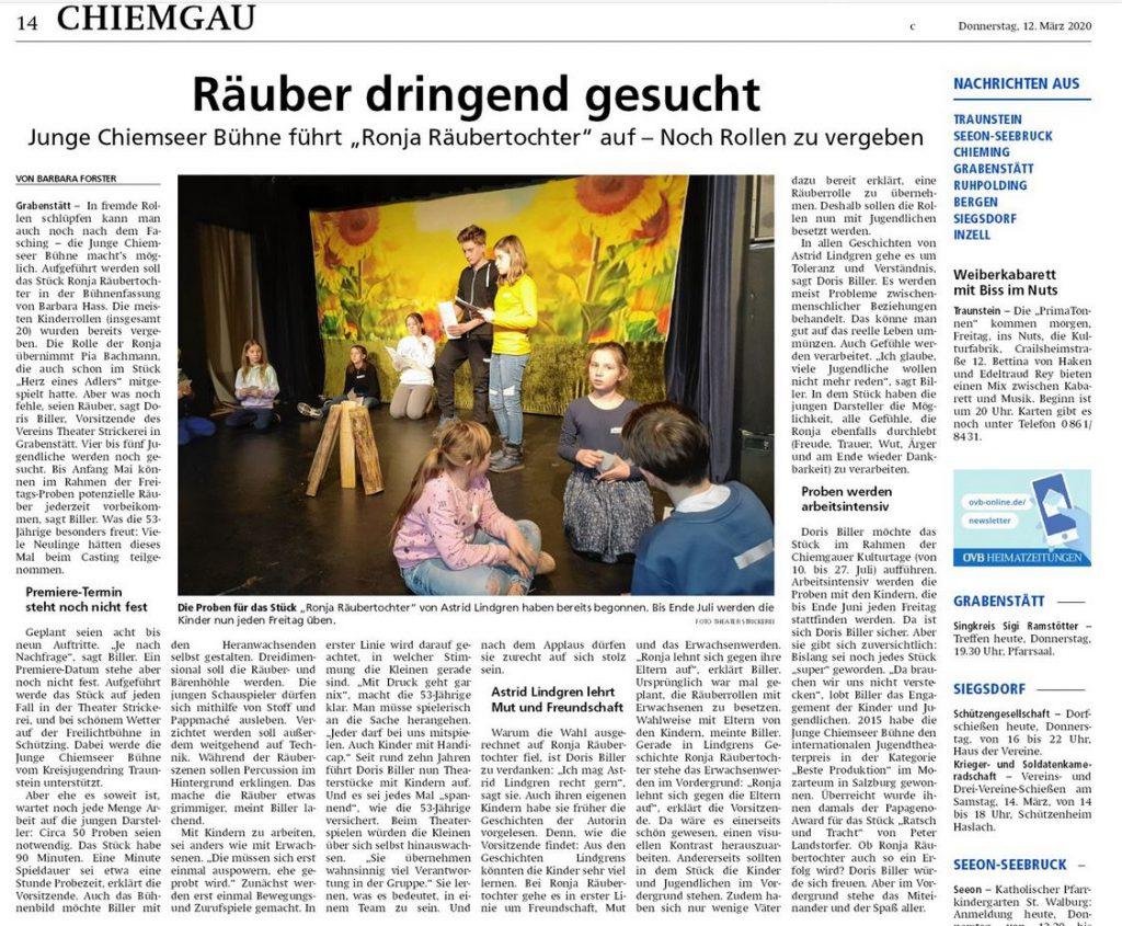 Chiemgau Zeitung vom 12.03.2020